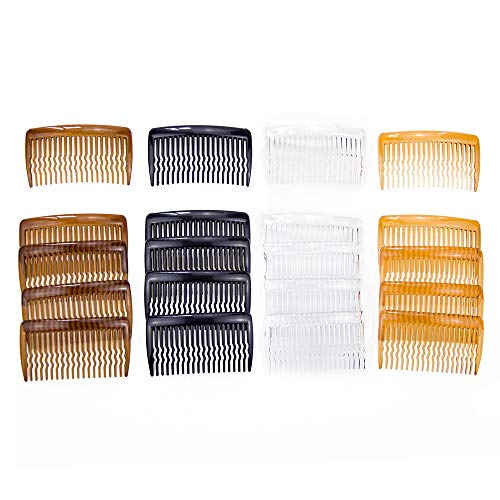 Miuance 20 Pieces Plastic Hair Side Combs Wave Teeth Hair Combs Hair Clip Comb Hair Accessories for Fine Hair(4 Color)