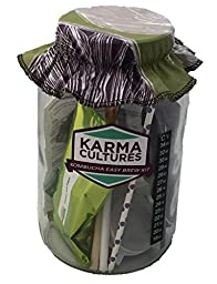 Kombucha Tea Homebrew Starter Kit - KBKITBASIC - NO SCOBY, Jar, Starter Fluid, Organic Sugar & Tea + More! Everything You Need to Brew Premium & Organic Kombucha Tea In Your Own Home - Save Hundreds of Dollars vs. Buying Pre-bottled Kombucha