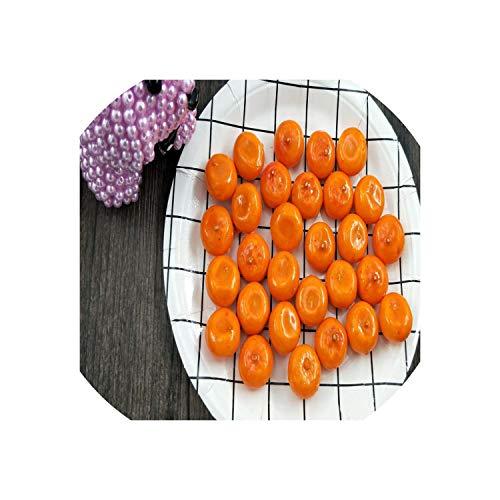 (10 Pcs/Lot Simulation Model of Mini Fruit Decorative Vegetables Compote of Artificial Fruit Simulation Orange About 2 cm)