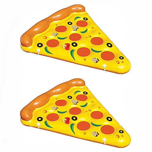 2 Pack Of Swimline Giant Inflatable Pizza Slice Float Rafts   2 X 90645
