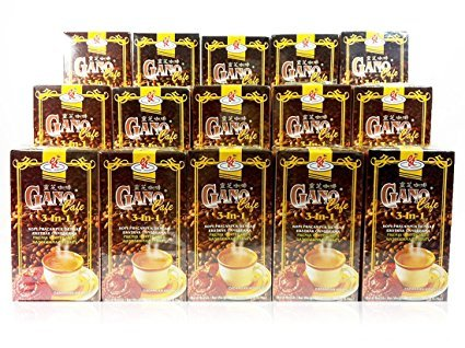 15 Boxes Gano Excel GanoCafe 3 in 1 Instant Coffee Ganoderma Lucidum Extract by Gano Excel