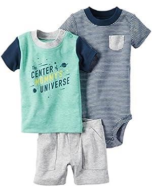 Carter's Baby Boys' 3 Piece Stripe Set