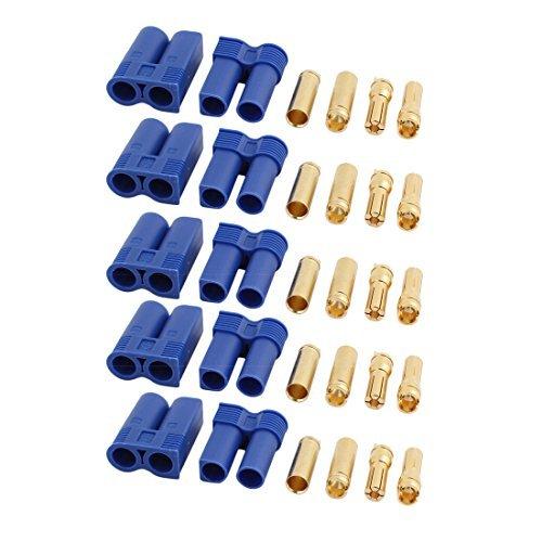 DealMux 5 pares EC5 5mm Feminino Masculino Banana conectores para RC ESC LIPO Motor Bateria