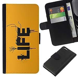 EJOY---La carpeta del tirón la caja de cuero de alta calidad de la PU Caso protector / Apple Iphone 5C / --VIDA