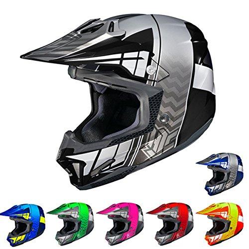HJC cl-x7Cross Up casco integral Off Road Casco de Moto, Azul, Amarillo, X-large