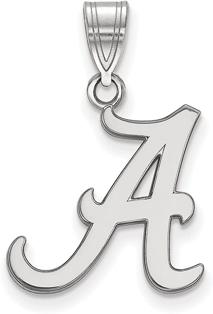 Lex /& Lu LogoArt Sterling Silver University of Alabama Medium Pendant LAL143393