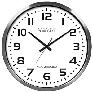 La Crosse Technology 404-1220 20-Inch Atomic Wall Clock, Extra Large