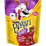 Beggin' Strips Dog Treats, Thick Cut Hickory Smoked Bacon, 25oz Pouch, Pack of 1