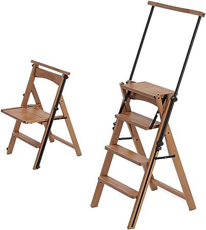 Gym Taburete Plegable multifunción, Escalera de Cuatro peldaños, Escalera portátil, Escalera de Estudio, Escalera Plegable, Taburete Creativo de Haya: Amazon.es: Hogar