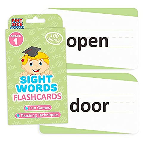 Sight Words Flashcards for Reading Readiness - Choose from 5 Grade Levels, 100 Words Each! by Pint-Size Scholars (First (Trend Educational Products)
