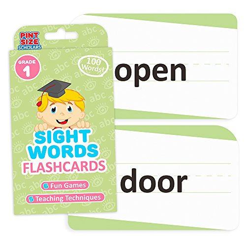 Sight Words Flashcards for Reading Readiness - Choose from 5 Grade Levels, 100 Words Each! by Pint-Size Scholars (First Grade)