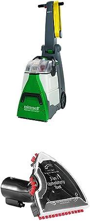 Bissell 48F3N Aspirador para lavar moquetas y alfombras, 1200 W, 83.6 Decibelios, Plastic, Verde, Gris + Bissell 2369 Accesorio 3-En-1 para Escaleras Y Tapicerías: Amazon.es: Hogar