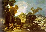 COLLANTES FRANCISCO THE BURNING BUSH ARTIST PAINTING REPRODUCTION HANDMADE OIL 16x24inch MUSEUM QUALITY