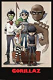 Gorillaz All Here Music Poster