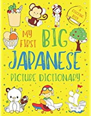 My First Big Japanese Picture Dictionary: Two in One: Dictionary and Coloring Book - Color and Learn the Words - Japanese Book for Kids with Translation, Pronunciation, Hiragana, Katakana, and Kanji