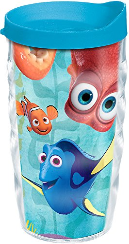 Tervis 1218800 Disney/Pixar - Finding Dory Group Tumbler with Wrap and Turquoise Lid 10oz Wavy, Clear