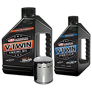 MaximaHiflofiltro VTTOCK02 Complete Engine Oil Change Kit for V-Twin Harley Davidson Sportster, 5 quart
