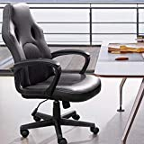 Furmax Office Chair Desk Leather Gaming Chair, High Back Ergonomic Adjustable Racing Chair,Task Swivel Executive Computer Chair Headrest and Lumbar Support