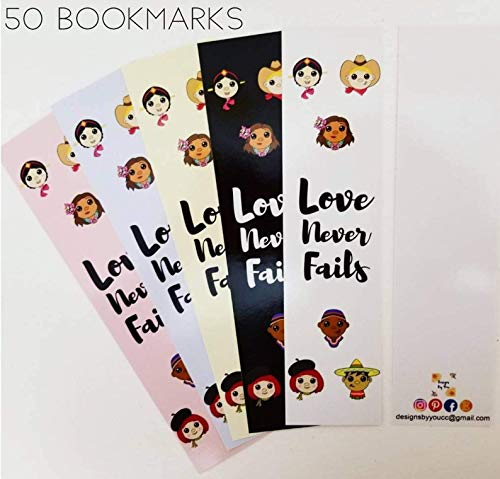 (JW International Convention-Convention Souvenir-Love Never Fails Convention-Pack of 50 Bookmarks - 2019 JW Regional Convention-International Souvenir)