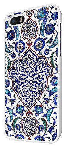 073 - Vintage Shabby Chic Paisly Middle East art Design iphone 4 4S Coque Fashion Trend Case Coque Protection Cover plastique et métal - Blanc