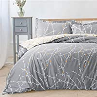 Bedsure Branch Printed Duvet Cover Set Ultra Soft Bedding Set with Zipper Closure Hypoallergenic Microfiber
