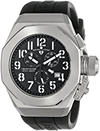 Mens 10542-01-WA Trimix Diver Chronograph Black Dial Black Silicone Watch