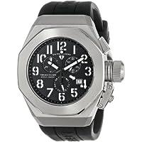 Swiss Legend Men's 10542-01-WA Trimix Diver Chronograph Black Dial Black Silicone Watch