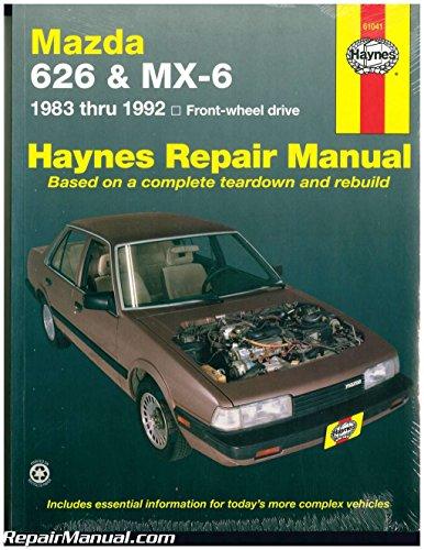 H61041 Haynes Mazda 626 MX-6 1983-1992 Auto Repair Manual
