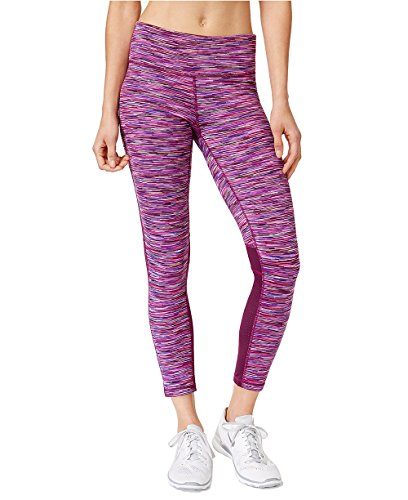 Ideology Women's Space Dyed Cropped Active Leggings (Large, Pretty Plum Space Dye) by Ideology