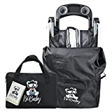 Stroller Carseat Travel Bag - Standard Or Double Umbrella Running Stroller, by IsiBaby - Large Black Bag - Airplane Gate Check Traveling and Cover Storage - XL Or XXL