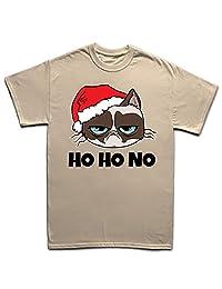 Grumpy Santa Cat Christmas Xmas T Shirt