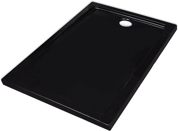 vidaXL Receveur de douche ABS Noir 80x100 cm Bac /à Douche /à Poser Bain