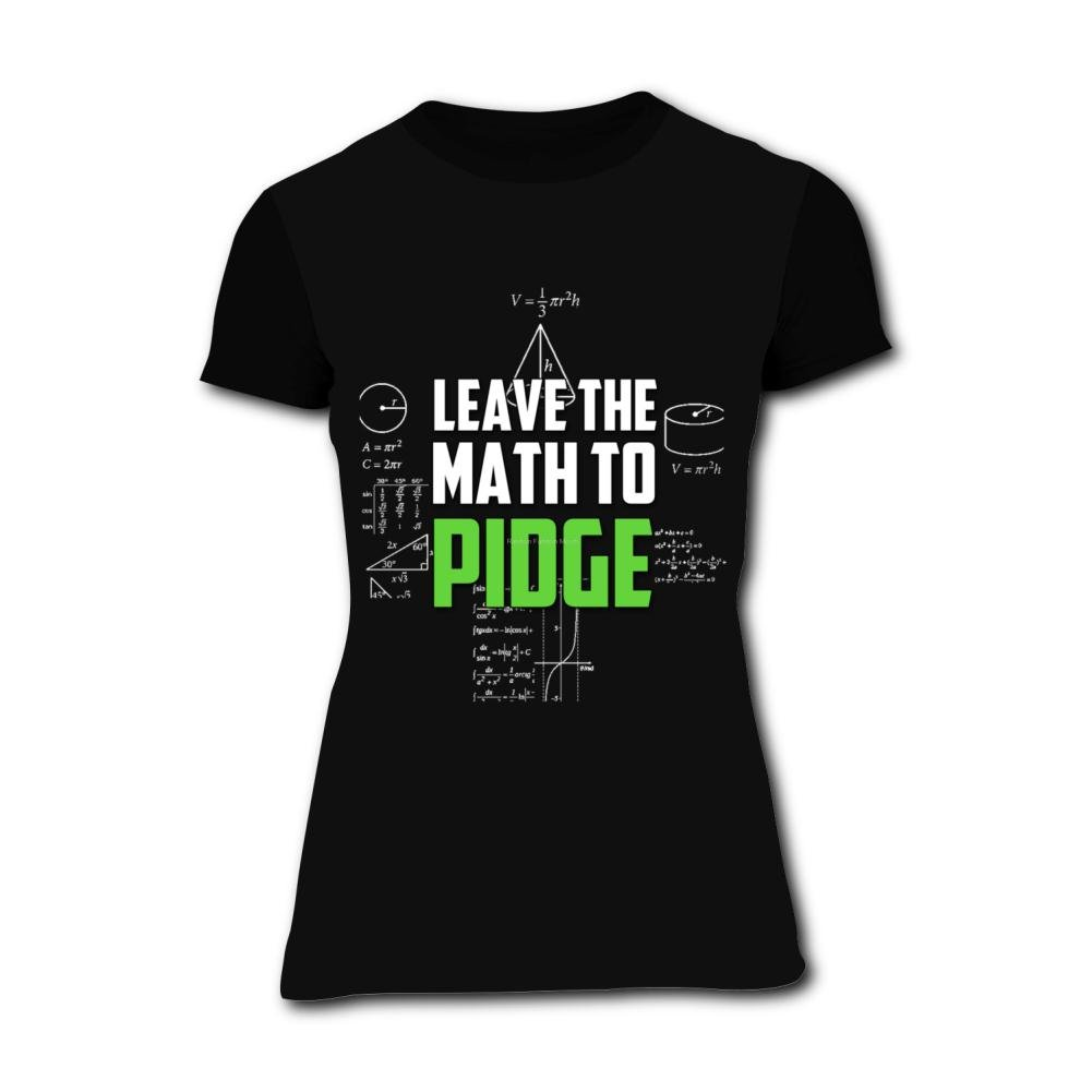 b69b0671 Amazon.com: Richelle shop Leave The Math to Pidge T-Shirts 3D Printed -  Fashion Short Sleeve for Women: Clothing