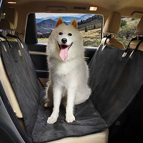 YOSH Dog Car Seat Cover Waterproof & Scratch Proof Backseat Cover Dog Travel Hammock with Seat Anchors, Durable, Nonslip, Machine Washable, Dog Seat Cover Universal fits All Cars, Trucks and SUVs