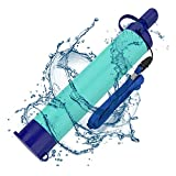 SimPure Water Filter Straw, Portable Survival Straws with 0.1 Micron 5-Stage Integrated Water Purifier, Outdoor Water Filtration System Survival Gear for Camping Hiking Climbing and Emergency