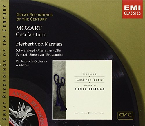 Great Recordings Of The Century - Mozart: Cosi Fan Tutte / Karajan, Schwarzkopf, Merriman, Otto, Simoneau, et al