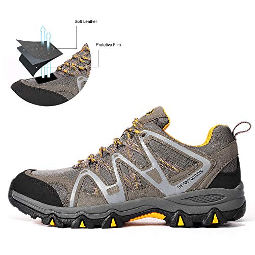 Pictures of The First Outdoor Men's Hiking Shoes 851802H01M47 Grey/Yellow 6