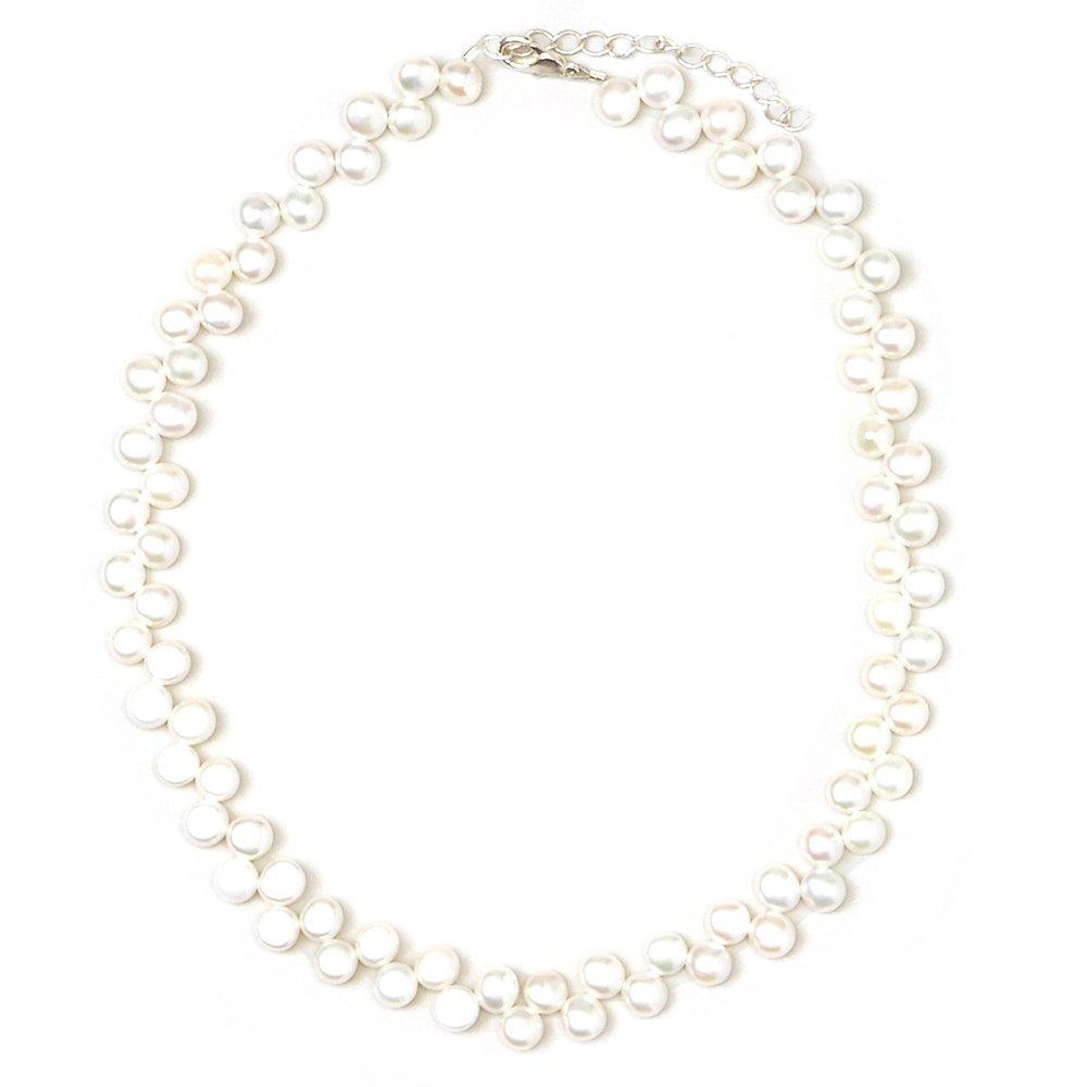 Luxury White Freshwater Pearl Beaded Keepsake Sterling Silver Baby Girl Elegant Bracelet (BFW) Crystal Dream AZBFW_SMALL