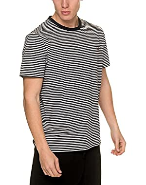 Men's Fine Stripe T-Shirt Men's T-Shirt In Navy in Size XL Blue