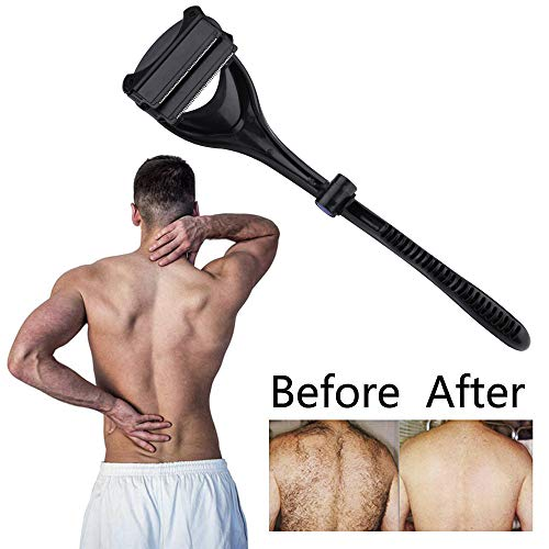 Wet Free Easy Pain Black certainPL Handle a Use Back and Black Shaver Body Close Removal Dry for Shave Curved Hair to nq4wTqYZBx