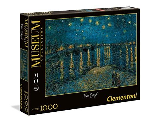 Clementoni-Los Pinguinos De Madagascar Puzzle 1000 pzas Museum Van Gogh Noche (39344 2)