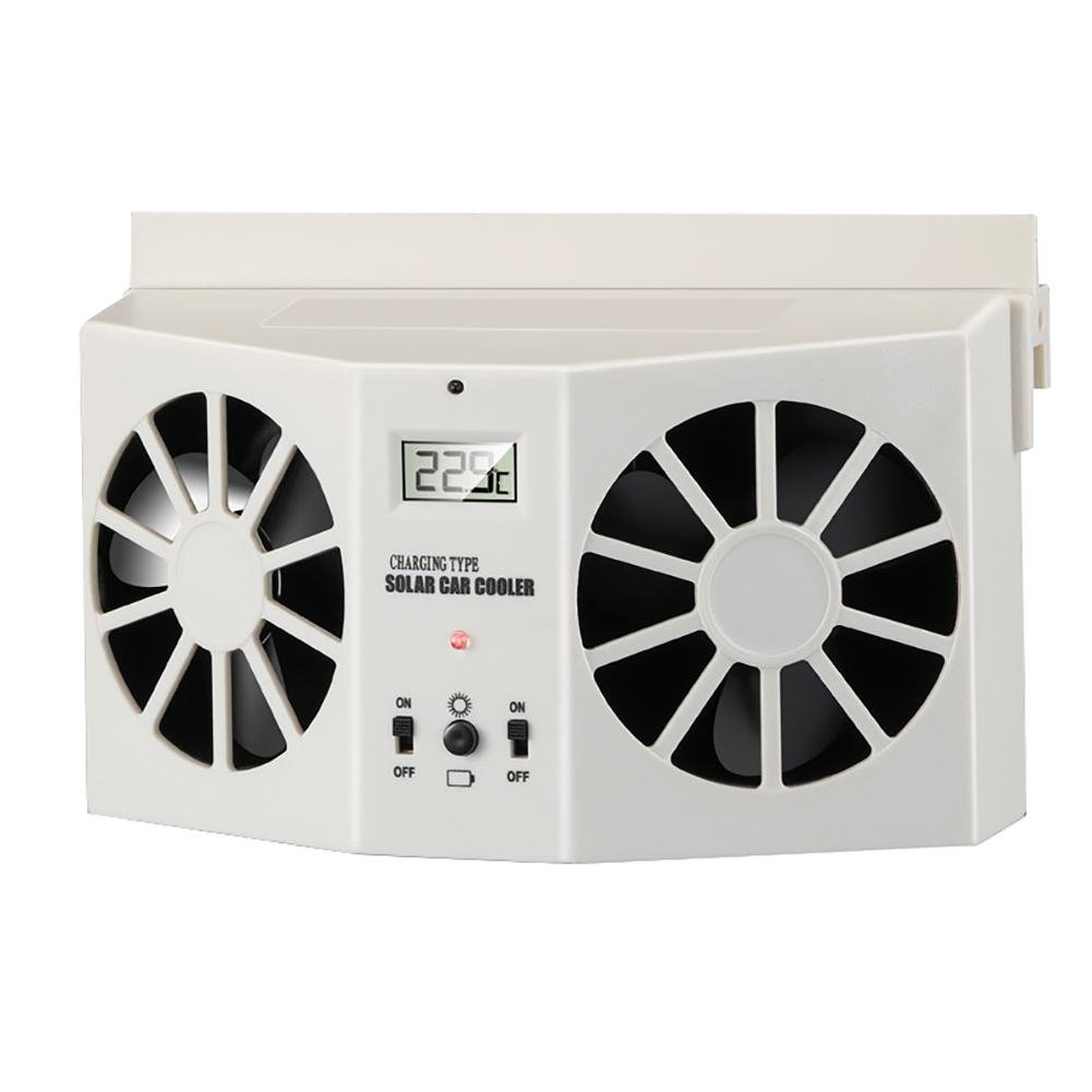 Solar Powered Car Window Air Vent Ventilator Window Air Vent Cool Cooler Fan Windshield Fan, Suitable for All Cars