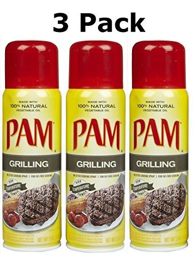 PAM Grilling No-Stick Cooking Spray, 5 oz, 3 pk by PAM