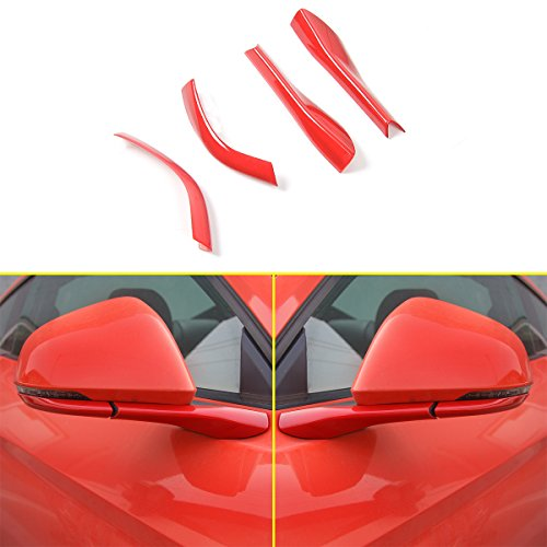Car External Rearview Mirror Pedestal Trim Cover for Ford Mustang 2015-2017 ()