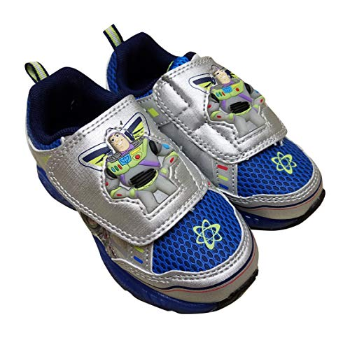 Price comparison product image ACI Buzz Lightyear Toy Story Sneaker Shoes for Boys,  Silber Blue,  10 M US