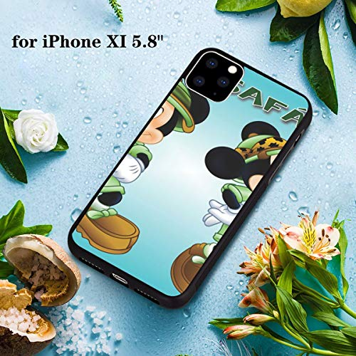 DISNEY COLLECTION PC and TPU Case iPhone 11 Pro 5.8 Inch Mickey and Minnie Mouse with a pet pet and Parrot Cartoon Safari Desktop Wallpaper HD for Mobile Phones and laptops