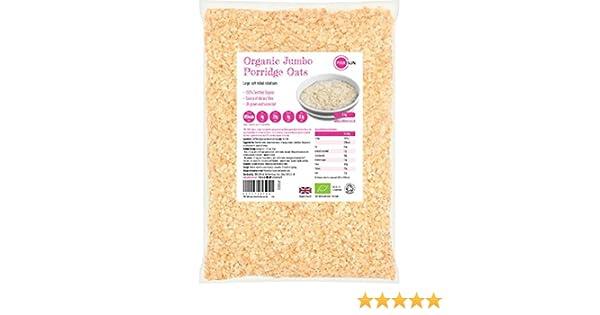 PINK SUN Avena Integral Orgánica Cereales 3kg Bolsa grande Harina ...