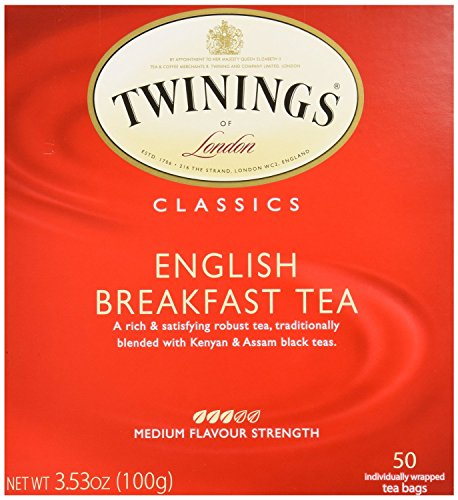 Twinings English Breakfast Tea, Tea Bags, 50-Count Boxes (Pack of 3 total of 150 tea bags)