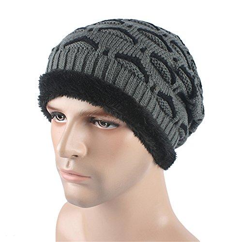 caliente terciopelo sombrero Cap del Skully Beanie Deportes unisex Outdor Slouchy párpado gris BaronHong patrón wCAtqtU