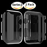 Apple watch 2 Case , Sfmn 2-Pack Apple Watch Series 2 Case Ultra-Thin PC Full Coverage All-around Cystal Clear Hard Cover PC Case for iwatch 2 (42MM PC Case)